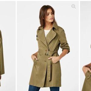 JustFab Jackets & Coats - ✨CLOSING MUST GO✨NEW JustFab Olive TrenchCoat